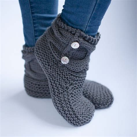 easy knit slipper pattern simple knit slipper booties free pattern crochet socks