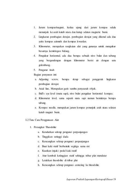 Kompas Mistar 1 laporan kartografi dasar