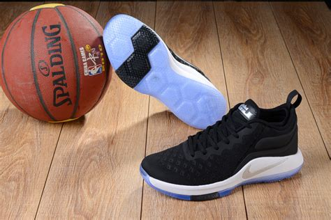 Sepatu Basket Nike Lebron Witness Low Navy s nike lebron witness 2 5 low woven breathable basketball shoes black white