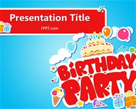 Free Happy Birthday Powerpoint Template Free Powerpoint Templates Powerpoint Birthday Template