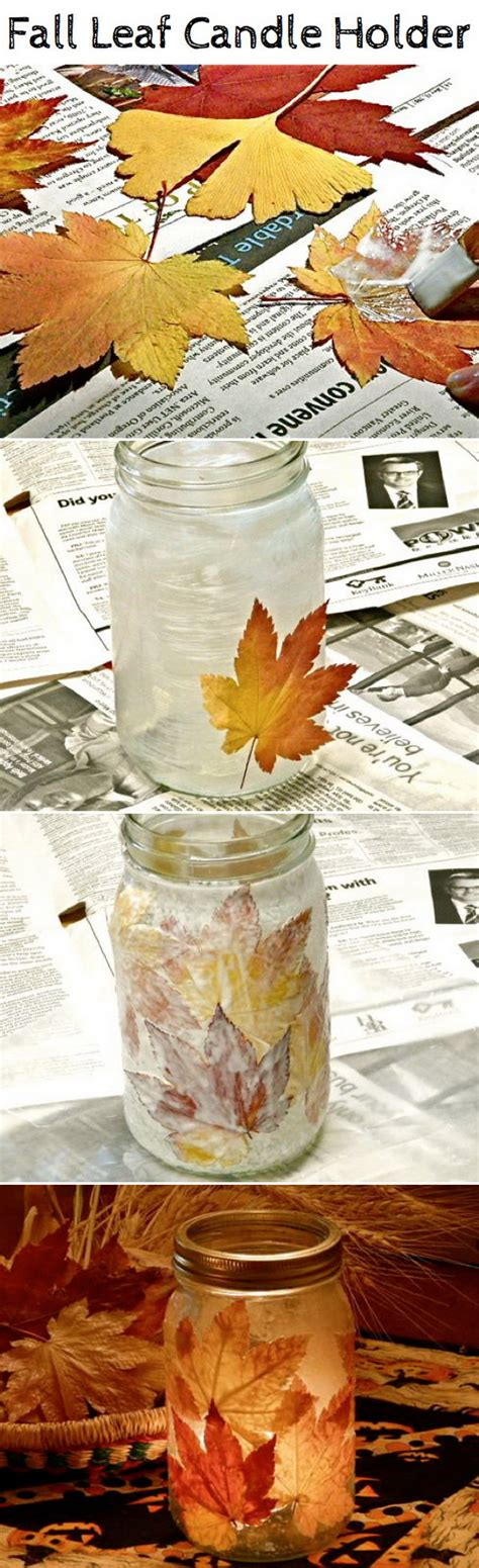 diy crafts with fall leaves hative