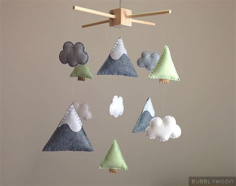 modern baby mobiles for crib mountains baby mobile modern nursery decor trees baby