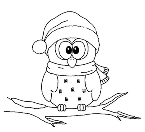 holiday owl coloring page top 10 cute christmas owl coloring page for kids