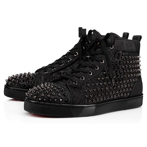 Spikes On Black christian louboutin louis spikes orlato s sneakers