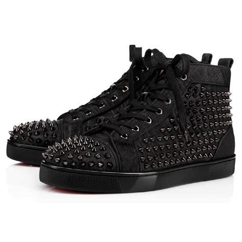 christian louboutin louis spikes orlato s sneakers black gunmetal 1170699b139