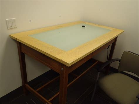 Drafting Table Calgary Wooden Drafting Light Tracing Table 60 X 36 X 37 Allsold Ca Buy Sell Used Office Furniture