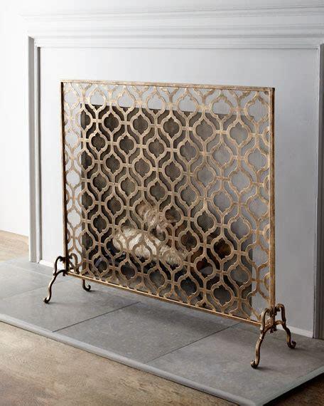 lexington single panel fireplace screen