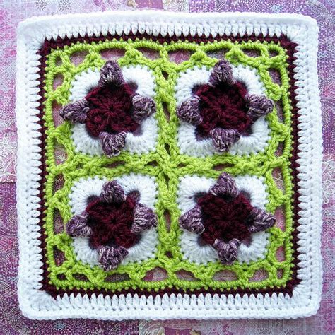 Square Wolfis Motif 20 sweet peas 12 quot square pattern by firecats design square projects squares and free pattern