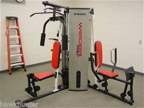 weider 4900 multi station weight stack home high
