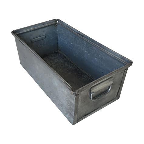 Metal Storage Box vintage industrial metal storage box chairish