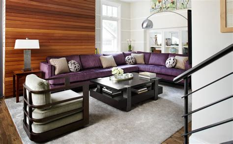 Living Room With Purple Sofa How To Match A Purple Sofa To Your Living Room D 233 Cor