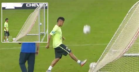 outrageous goals outrageous neymar scores goal from behind net kenya