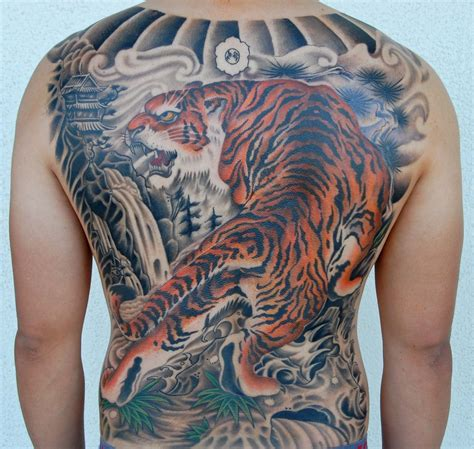 tiger back tattoo tiger images designs