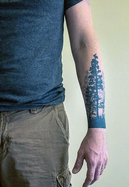 tree tattoos for men 70 pine tree ideas for wood in the wilderness