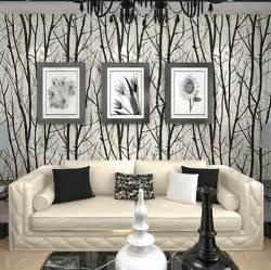 Home Decor For Walls by Aliexpress Com Buy Textured Tree Forest Woods Wallpaper