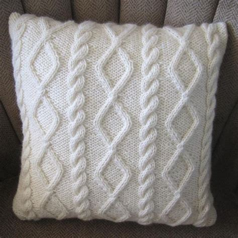 cable cushion cover knitting pattern diamonds and cables knit pillow cover cable knit pillow