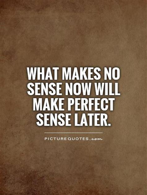 Makes No Sense Quotes what makes no sense now will make sense later