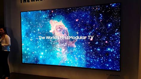 samsung quot the wall quot micro led mit 146 zoll ces 2018