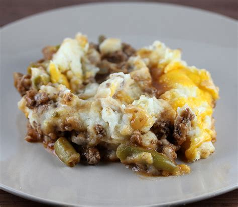 hamburger pie with garlic mashed potatoes recipe just a