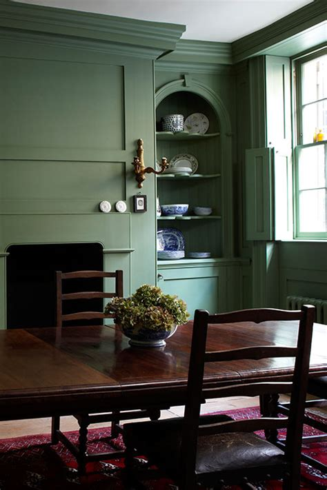 Dining Room Green Paint Strong Colours Can Work Wonderfully In Dining Rooms