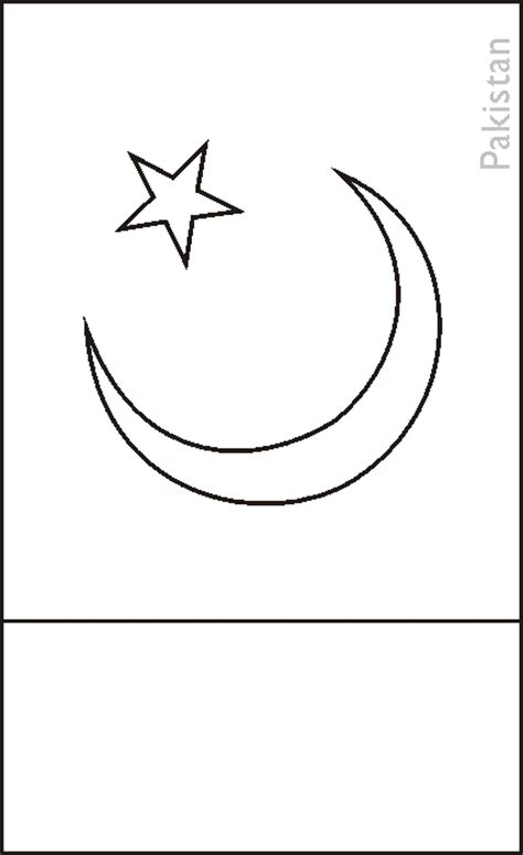 pakistan flag colouring pages picture to pin on pinterest