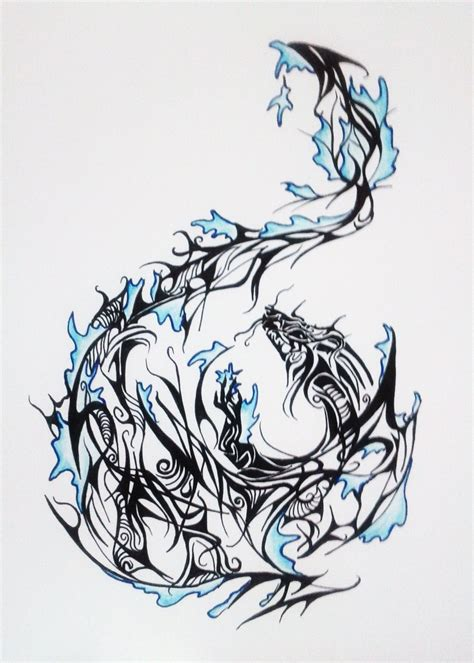 water dragon tattoo designs water design by melodicinterval on deviantart