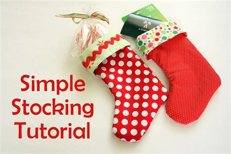 free pattern for lined christmas stocking easy diy stocking tutorial