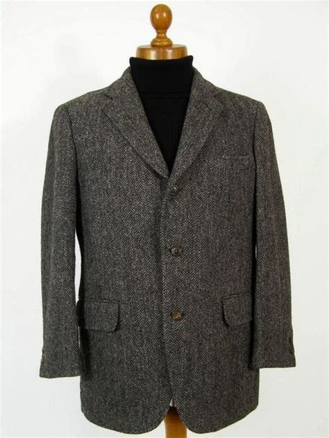 Haries Black Grey 26 best mens tweed jackets with patches images on
