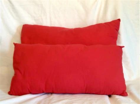 bed pillow set decorative bed pillows two pillow set red flannel pillows