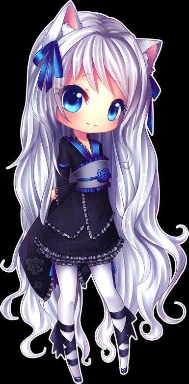 Dress Catty Salem chibi anime chicas anime kawaii cats silver hair and chibi