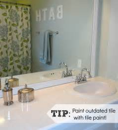 the tile countertops were painted white using same product used ideas for updating your bathroom diy