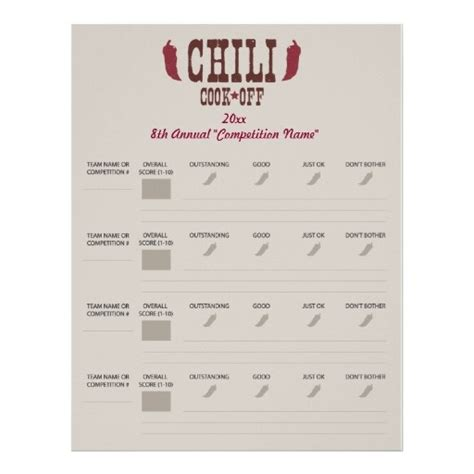 printable judging cards chili judging score card related keywords chili judging