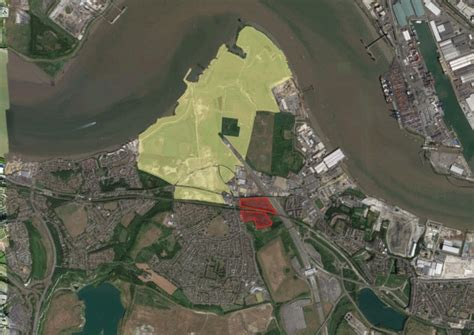 theme park dartford site of the proposed paramount london resort with recent