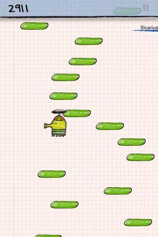 doodle jump jetpack doodle jump screenshots for iphone mobygames