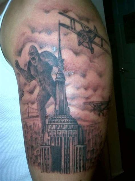 empire state building tattoo king kong