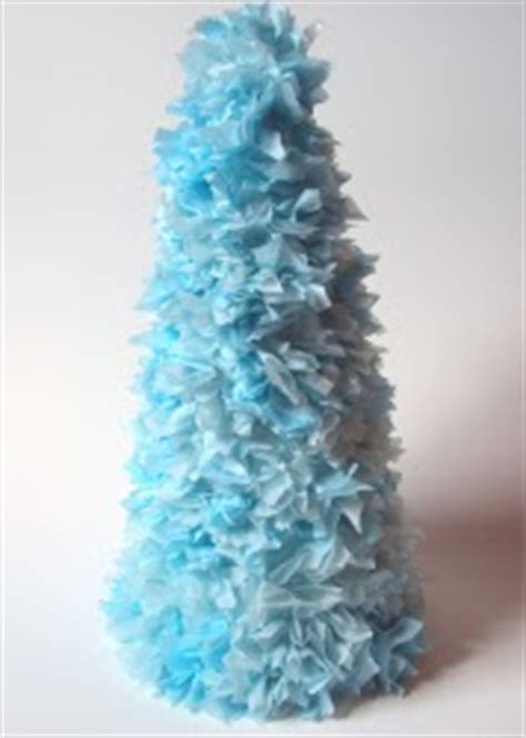 christmas tree tissue paper cone tree craft tissue paper trees allfreechristmascrafts
