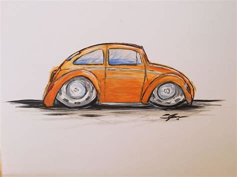 volkswagen painting vw volkswagen beetle bug painting drawings