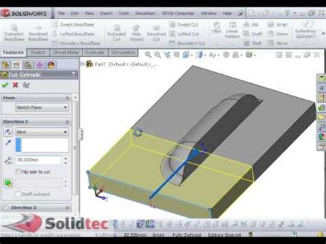 solidworks tutorial forming tool custom forming tool in solidworks youtube