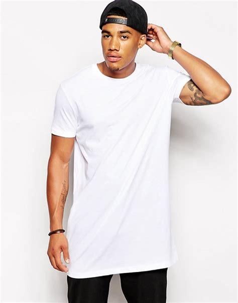 Asos Longline T Shirt asos asos longline t shirt in white