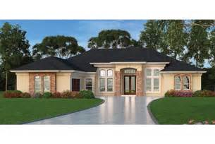 Modern Mediterranean House Plans Home Plan Homepw76954 2635 Square Foot 3 Bedroom 3