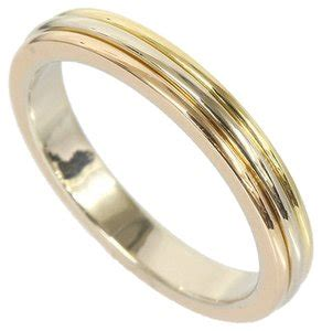 cartier yellow gold rose gold white gold trinity wedding band 18k b4052266 ring tradesy