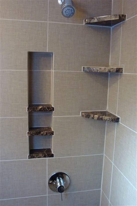 Shower Storage Shelves by Shower Storage Built In Bathroom Detroit By Steward
