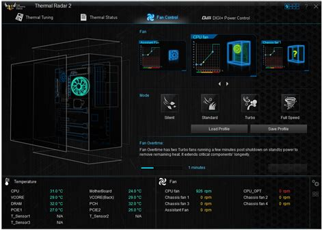 pc fan controller software bios and software asus tuf z87 gryphon review