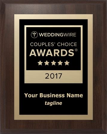 Weddingwire Awards by Official 2017 Weddingwire Couples Choice Awards 174 By Award