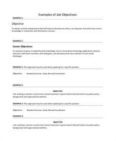 Statement Of Objectives Template Sample Job Objective Statement 7 Documents In Pdf Word