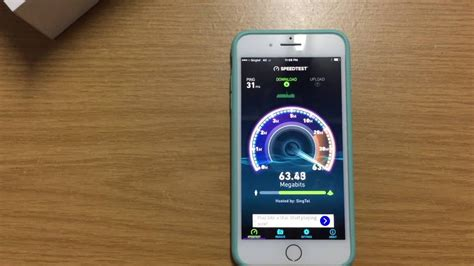 apple iphone 7 plus wifi and lte 4g speed test