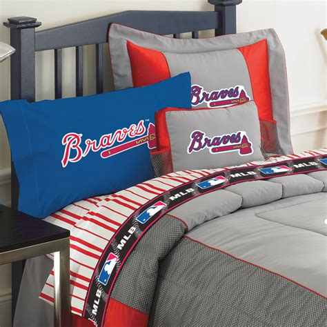 atlanta braves comforter atlanta braves queen size sheets set