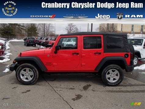 jeep cars red 2013 rock lobster red jeep wrangler unlimited sport s 4x4