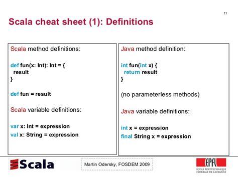 scala pattern matching operator scala talk at fosdem 2009