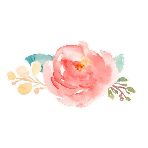 water color flowers painted flowers svg cut file with watercolor